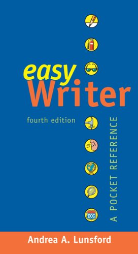 EasyWriter with 2009 MLA and 2010 APA Updates A Pocket Reference 4th 2012 edition cover
