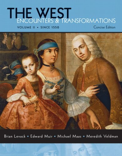 West Encounters and Transformations since 1550  2007 edition cover