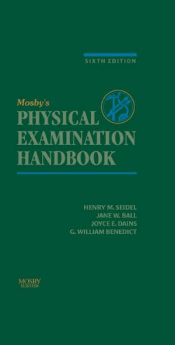 Mosby's Physical Examination Handbook  6th 2006 (Revised) edition cover