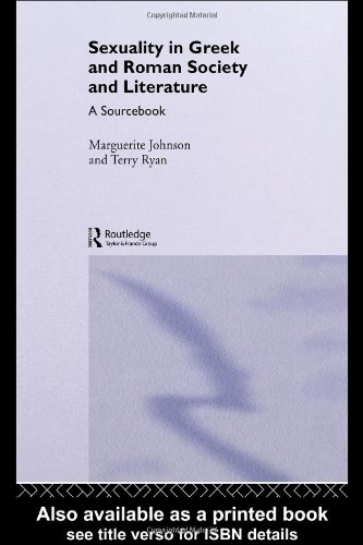 Sexuality in Greek and Roman Literature and Society   2007 edition cover