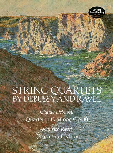 String Quartets by Debussy and Ravel Quartet in G Minor, Op. 10/Debussy, Quartet in F Major/Ravel N/A edition cover