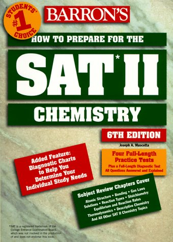 How to Prepare for the SAT II : Chemistry 6th 1998 (Revised) 9780764103315 Front Cover