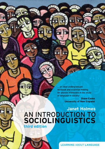 Introduction to Sociolinguistics  3rd 2008 edition cover