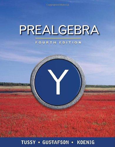 Prealgebra  4th 2011 edition cover