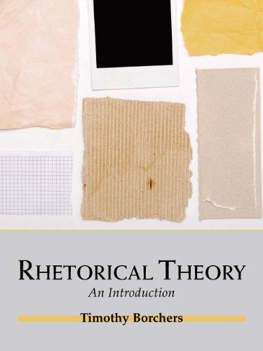 Rhetorical Theory An Introduction N/A edition cover