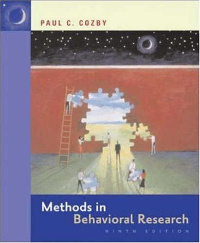 Methods in Behavioral Research with PowerWeb  9th 2007 (Revised) edition cover
