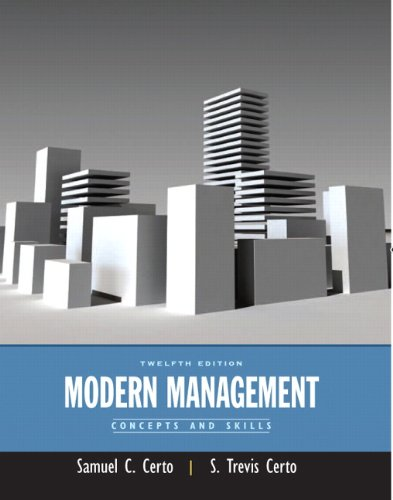 Modern Management Concepts and Skills 12th 2012 edition cover