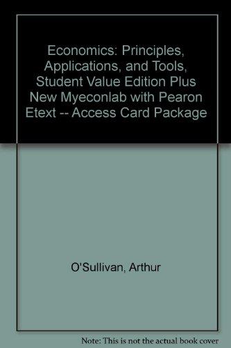 Economics Principles, Applications, and Tools 8th 2014 edition cover