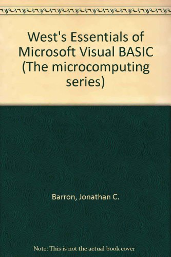 West's Essentials of Microsoft Visual Basic  N/A 9780314055316 Front Cover