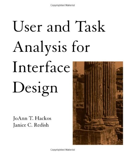 User and Task Analysis for Interface Design  1st 1998 edition cover