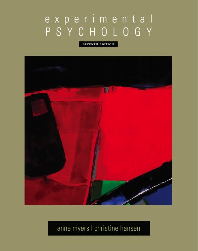 Experimental Psychology  7th 2012 edition cover