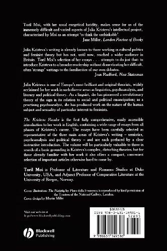 Kristeva Reader   1986 edition cover