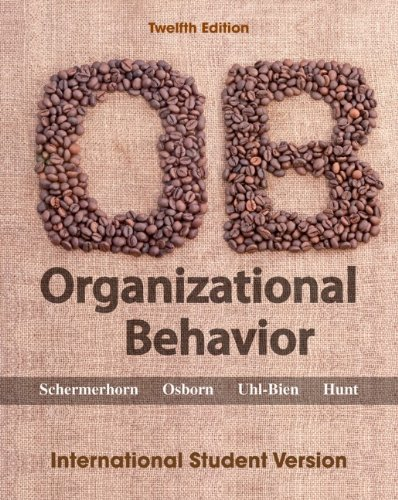 Organizational Behavior  12th 2012 9781118092316 Front Cover