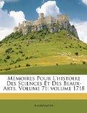 Mémoires Pour L'Histoire des Sciences et des Beaux-Arts N/A edition cover