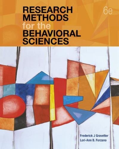 Research Methods for the Behavioral Sciences:   2018 9781337613316 Front Cover