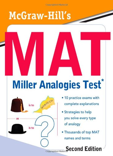 MAT Miller Analogies Test  2nd 2010 edition cover