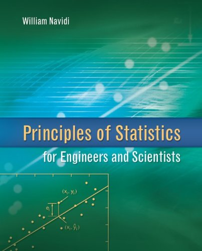 Principles of Statistics for Engineers and Scientists   2010 edition cover