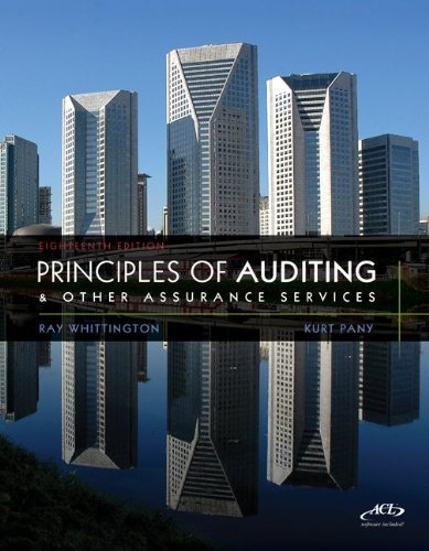 Principles of Auditing and Other Assurance Services  18th 2012 edition cover