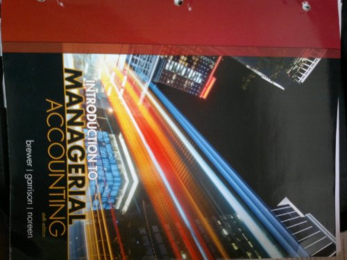 Introduction to Managerial Accounting with Connect Plus  6th 2013 edition cover