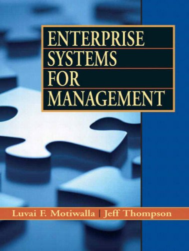 Enterprise Systems for Management   2009 edition cover