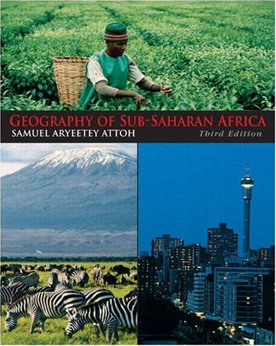 Geography of Sub-Saharan Africa  3rd 2010 edition cover