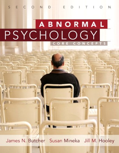 Abnormal Psychology Core Concepts 2nd 2011 edition cover