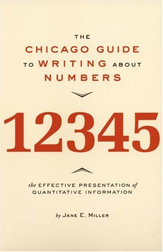 Chicago Guide to Writing about Numbers   2004 edition cover