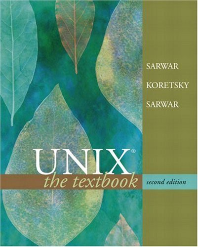 UNIX The Textbook 2nd 2005 (Revised) edition cover