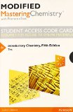 Modified MasteringChemistry with Pearson EText -- Standalone Access Card -- for Introductory Chemistry  5th 2015 edition cover