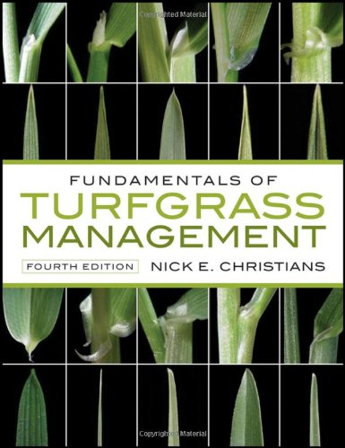 Fundamentals of Turfgrass Management  4th 2011 edition cover