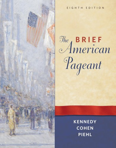 Brief American Pageant A History of the Republic 8th 2012 edition cover