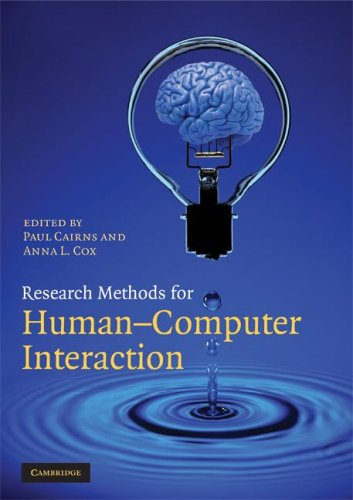 Research Methods for Human-Computer Interaction   2008 edition cover