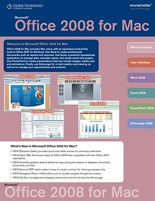 Office 2008 for Mac CourseNotes   2010 9780538744317 Front Cover