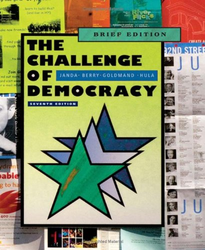 Challenge of Democracy American Government in a Global World 7th 2009 (Brief Edition) edition cover