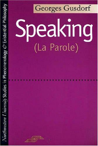 Speaking (La Parole)  N/A edition cover