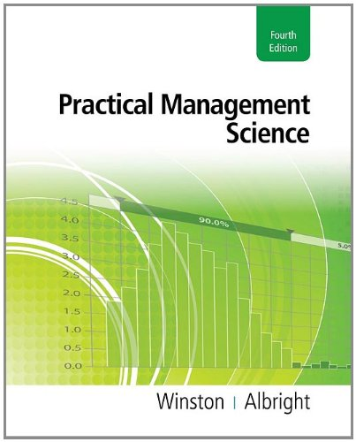 Practical Management Science  4th 2012 edition cover