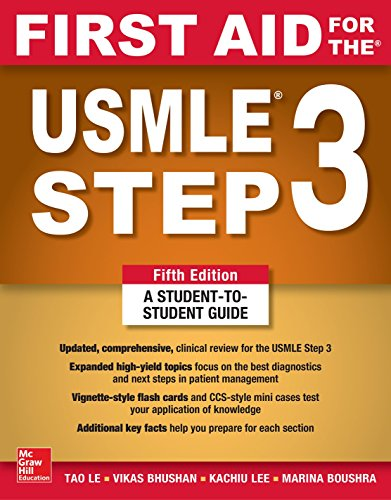 First Aid for the USMLE Step 3:   2019 9781260440317 Front Cover