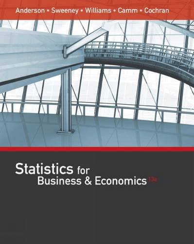 Statistics for Business and Economics  13th 2017 9781305585317 Front Cover