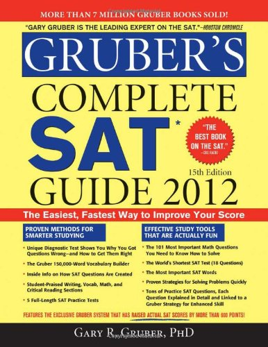 Gruber's Complete SAT Guide 2012  15th 2012 edition cover