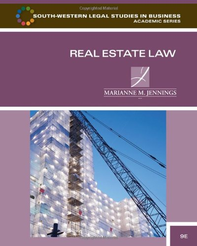 Real Estate Law  9th 2011 edition cover