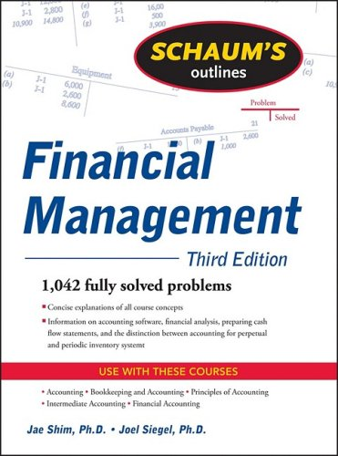 Schaum's Outline of Financial Management, Third Edition  3rd 2010 edition cover