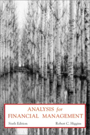Analysis for Finance Management  6th 2001 edition cover