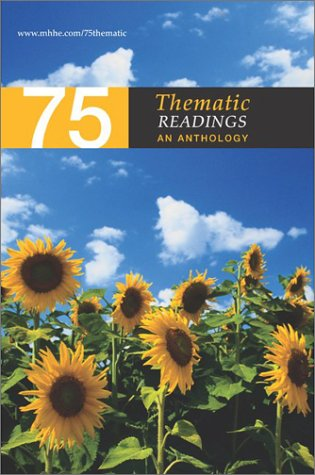 75 Thematic Readings An Anthology  2003 edition cover