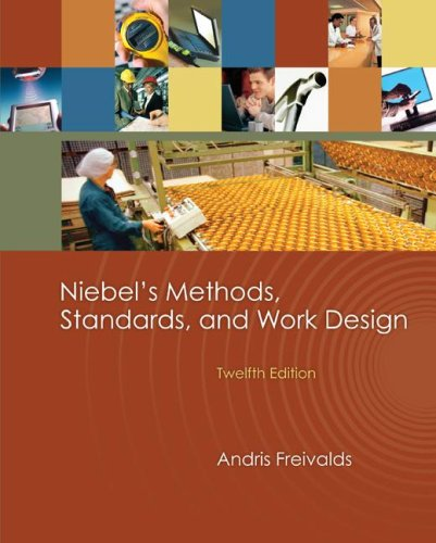 Niebel's Methods, Standards, and Work Design  12th 2009 edition cover