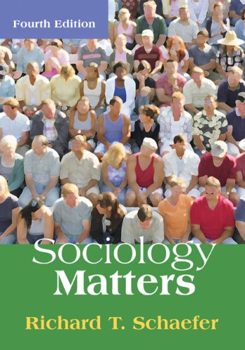 Sociology Matters 4th 2009 edition cover