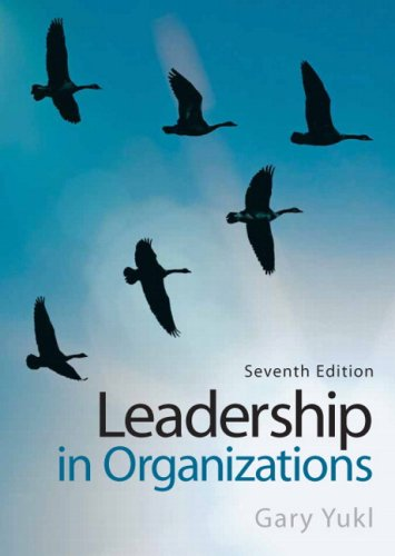 Leadership in Organizations  7th 2010 edition cover
