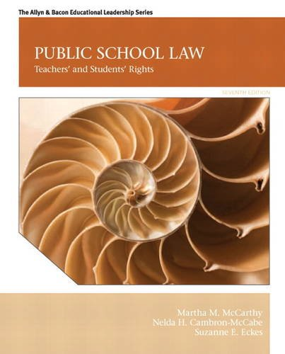 Public School Law Teachers' and Students' Rights 7th 2014 edition cover
