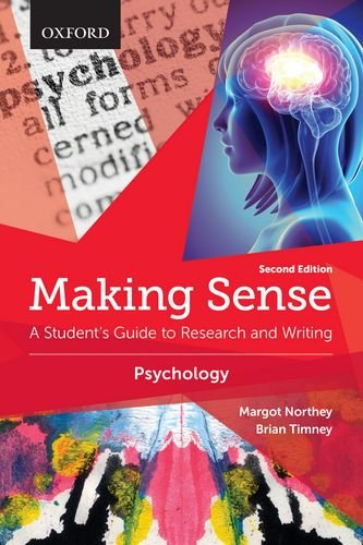 Making Sense in Psychology: A Student's Guide to Research and Writing  2015 edition cover