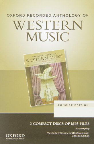 Oxford Recorded Anthology of Western Music:   2012 edition cover