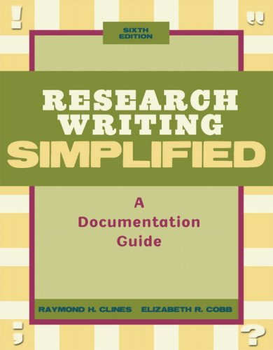 Research Writing Simplified  6th 2010 edition cover